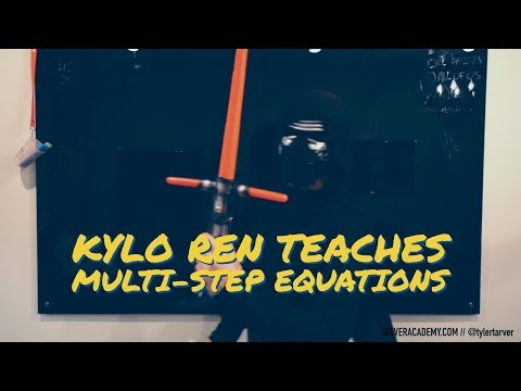 Kylo Ren teaches Solving Multi-Step Equations