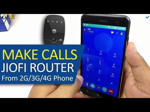 How to make Phone Calls using JioFi 2 Router (Jio 4G) on any 2G/3G/4G smartphone (Jio4GVoice)