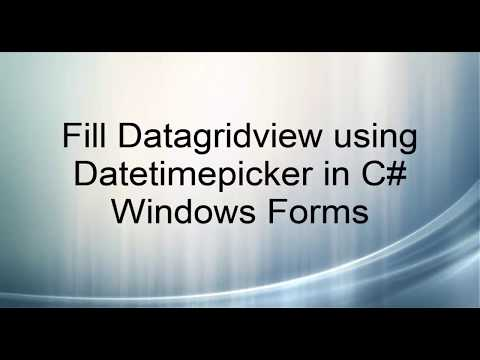 Fill Datagridview using Datetimepicker in C# Windows Forms