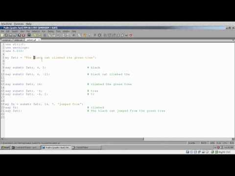 Modern Perl Tutorial - part 04 - String functions (lc, uc, length, index, substr)