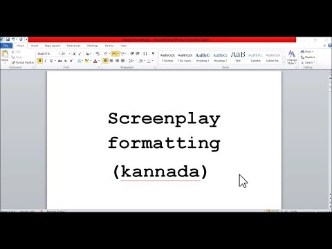 8 tips for best screenplay formatting (Kannada)