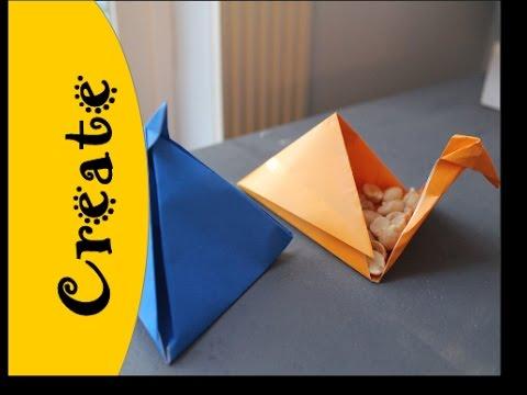 How to make a Pyramid Shaped Origami Box