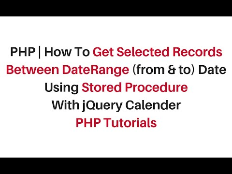 php get records between two dates jquery stored procedure mysql (phpmyadmin)