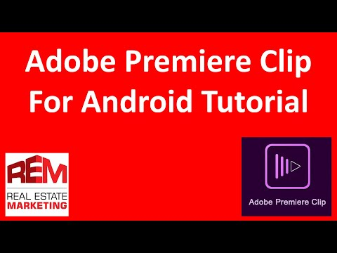 Adobe Premiere Clip Android video editing demonstration on a Samsung Smartphone