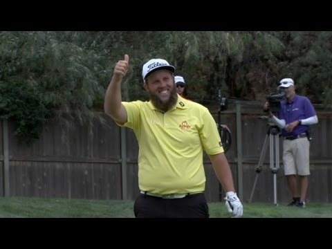 Andrew Johnston drives the par-4 15th hole at Albertsons Boise Open