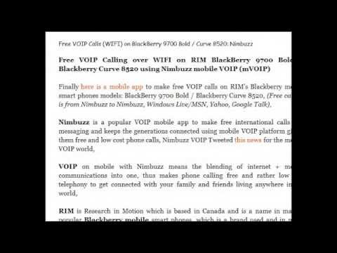 VOIP Apps for Blackberry Mobiles and Playbook