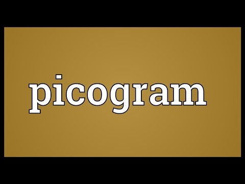 Picogram Meaning
