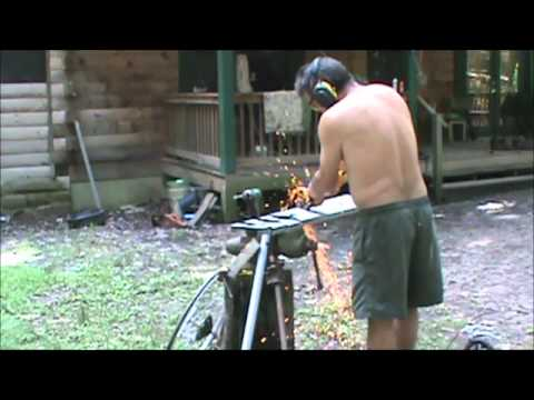SHTF Preppers making a water wheel for hydropower  part 1 DIY