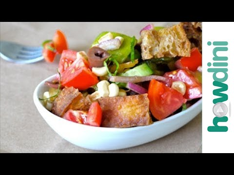 How to make tomato bread salad