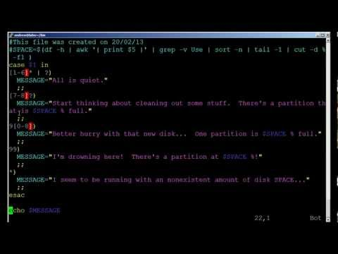 BASH scripting lesson 4 using case statements