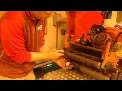Adjusting Height of Cut on Reel Mower