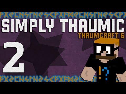 Thaumcraft 6 - Simply Thaumic Minecraft 1.10+ - Ep. 2 - Starting Thaumcraft with Vis Crystals