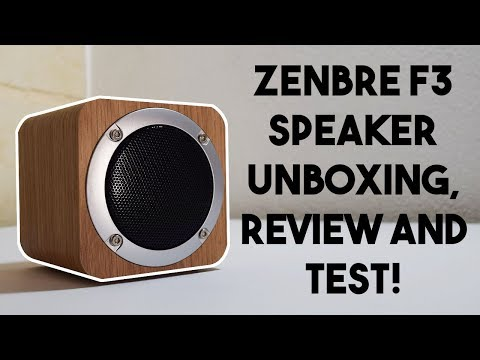 Speaker made out of wood?? Zenbre F3 Speaker Unboxing, Review and Test!