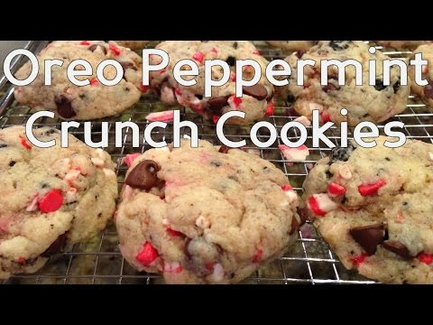Oreo Peppermint Crunch Cookies: Christmas Baking Fast and Easy Holiday Cooking!