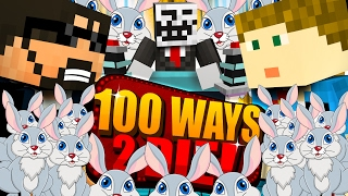 Minecraft: 100 WAYS TO DIE CHALLENGE - SO MANY RABBITS!!