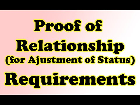 AOS: Proof Of Relationship Cover Letter! List of Requirements! (For Green Card)