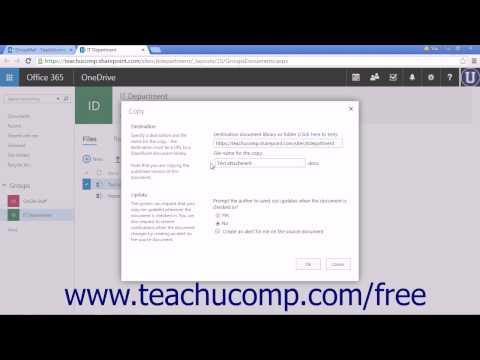 Outlook Web App Tutorial Managing Files in Groups 2015 Microsoft Training
