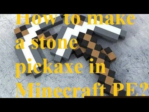 How to make a stone pickaxe    on minecraft