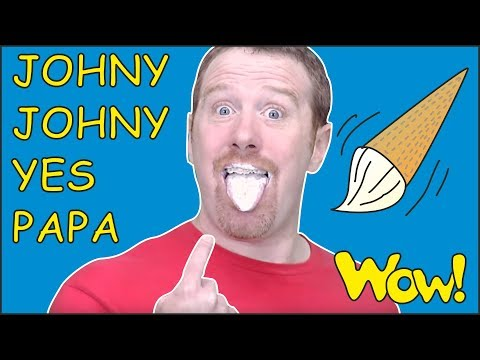 Johny Johny Yes Papa Story for Kids with Steve and Maggie NEW | Learn Speaking Wow English TV