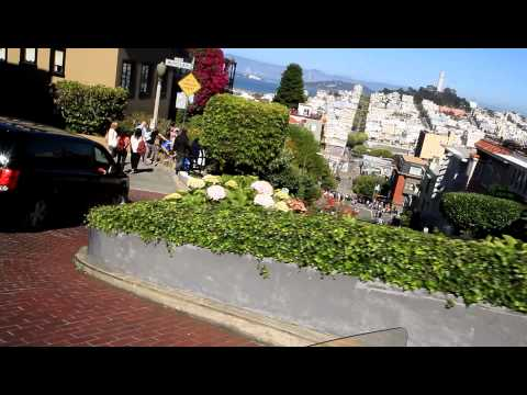 Going down the Lombard St in San Francisco in a go cart ....... wheeeeeeee