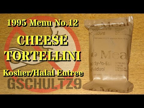MRE Review: 1995 Menu No.12 Cheese Tortellini (Kosher/Halal Entree)