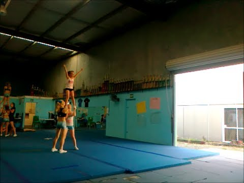 Cheerleading Stunt: Duel Basing Level 3