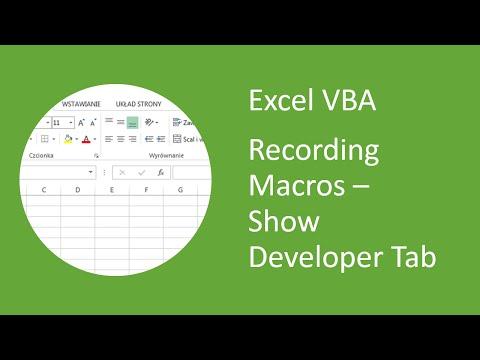 Excel VBA - How to Add Developer Tab