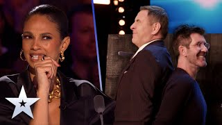 Unforgettable Audition: Too close for comfort! Simon and David have KNIVES THROWN at them | BGT 2020
