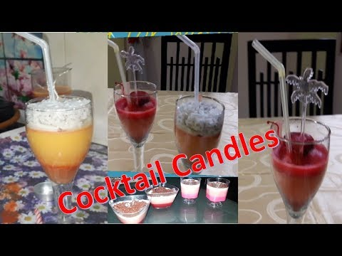 Cocktail Candles : video on how to make candles looking like drinks