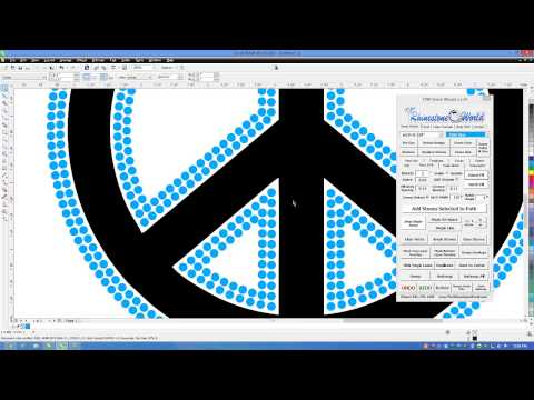 How to Make a Rhinestone Peace Sign in CorelDRAW for a T-Shirt Tutorial