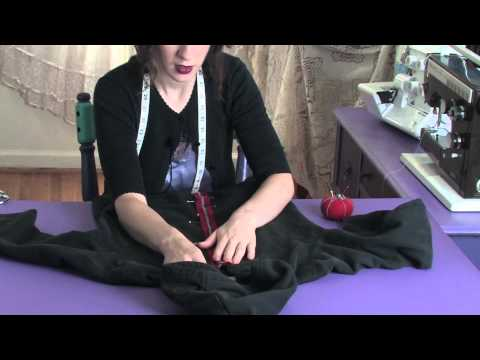 Sewing a Zipper Into a Hooded Sweatshirt : Sewing Lessons