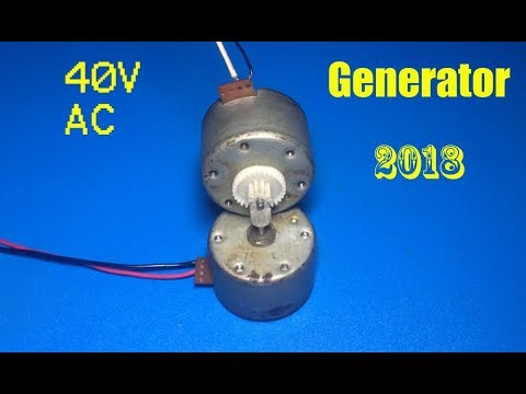 40V AC generator out of small DC motor, Amazing idea , new project 2018