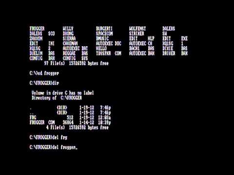 Deleting Files and Directories with DEL and RD / RMDIR Commands MS-DOS 3.2 Tandy Computer