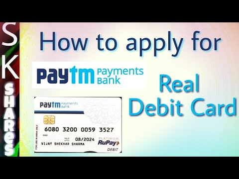 How to Apply for PayTM Payments bank debit card