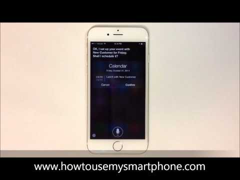 How to Set a Calendar Reminder using Siri - iPhone 6