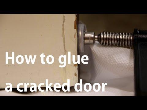 How to fix a cracked wood door