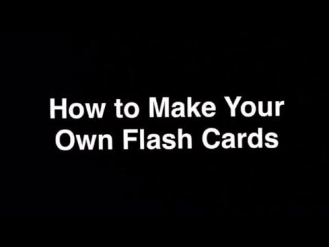 Flash Card Tutorial