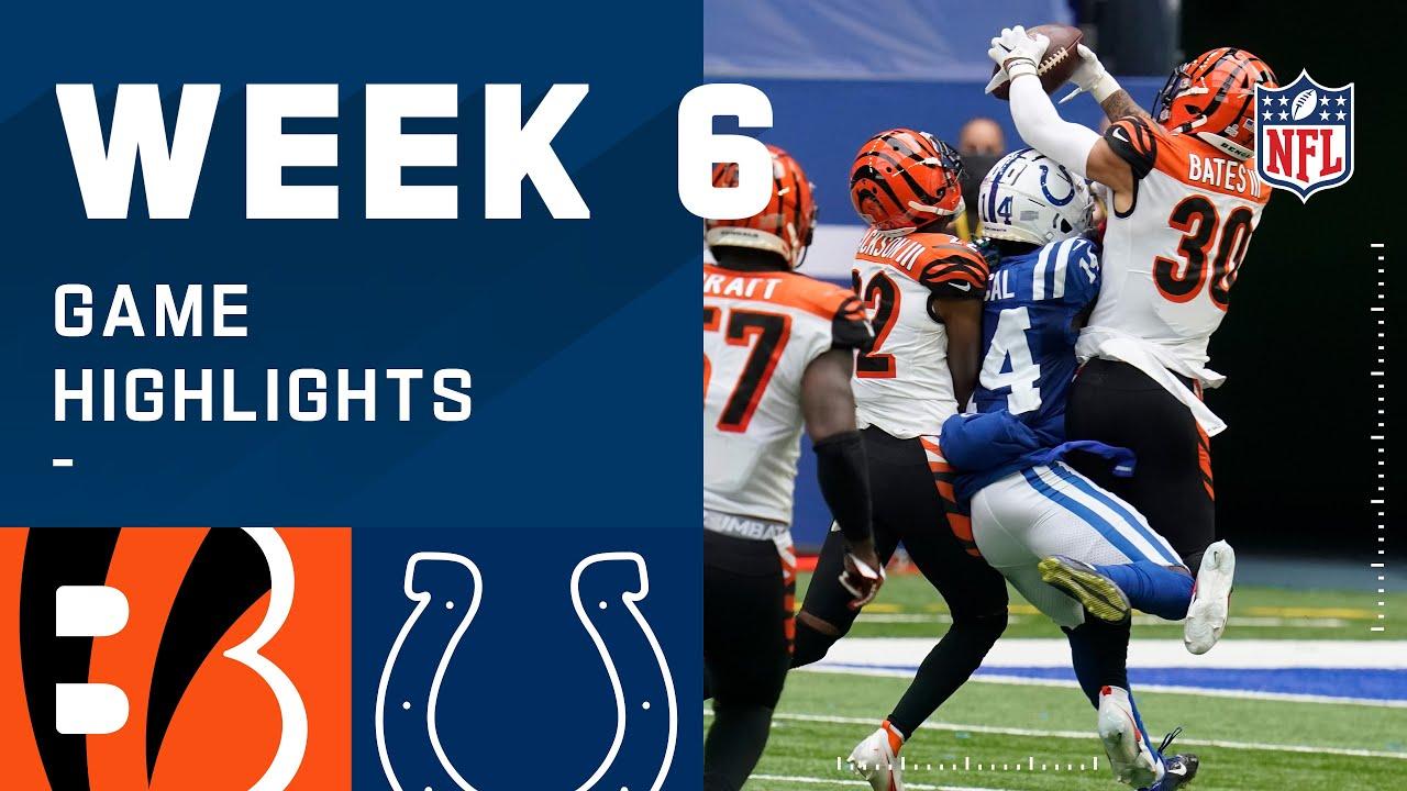 Bengals vs. Colts Week 6 Highlights | NFL 2020