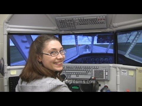 DIY Triple Screen Flight Simulator