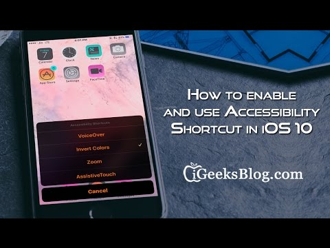 How to enable and use Accessibility Shortcut in iOS 10 on iPhone and iPad