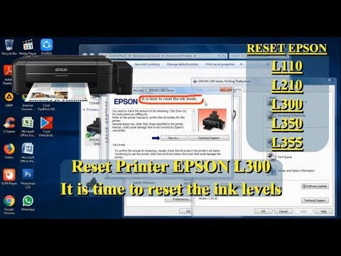 Reset Printer Epson L300 || It is time to reset the ink levels ||
