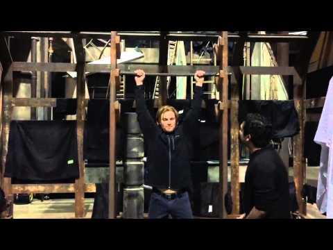 Stephen Amell Teaches Ankur How To Do The Salmon Ladder.