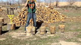 Prevent wood splitting accidents with THIS! split firewood with safe splitting tool Good N Useful