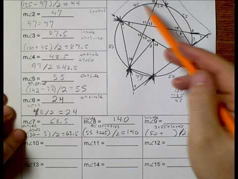 Geometry (Topic 8-4) Angles all in one picture