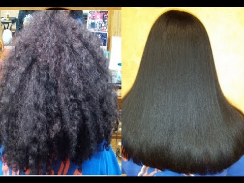 Japanese Hair straightening/Thermal Reconditioning multiple hair textures before and after