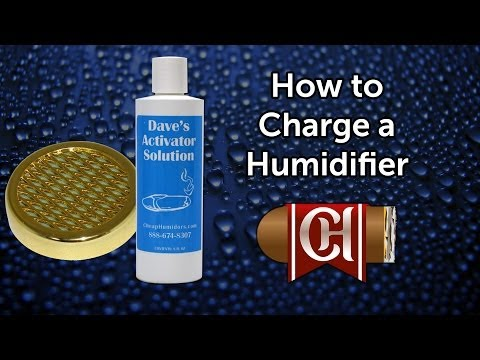 How to Charge a Humidor Humidifier