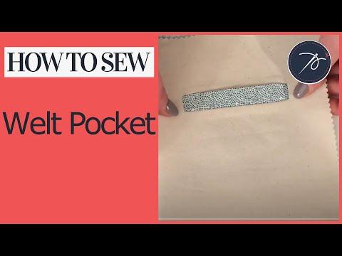 How to Create a Welt Pocket