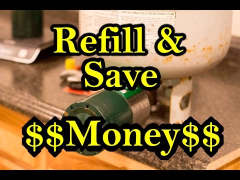 Save Money Refill Propane Gas Cylinders / Tanks Easy DIY
