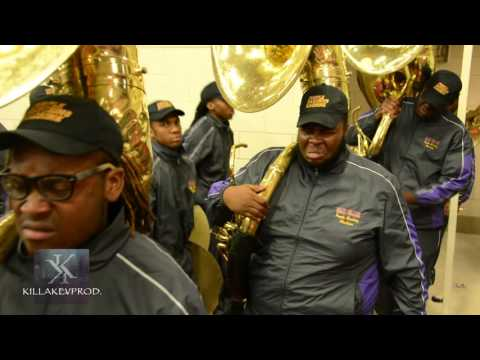 Miles College Marching Band - Entrance @ the 2015 Band Brawl