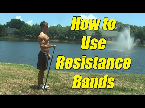 How to use resistance bands: Isometric, Concentric, Eccentric Contractions.